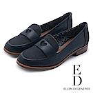ED Ellen DeGeneres 愛心優雅樂福低跟鞋-藍色