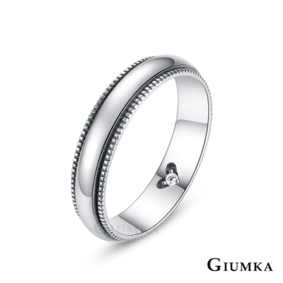 GIUMKA情侶純銀戒指結婚攜手共進925純銀戒尾戒
