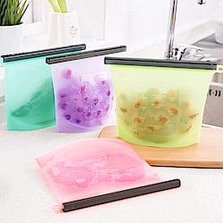 白金矽膠食物保鮮密封袋/1000ML/3入