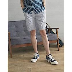 CACO-混織麻料短褲(兩色)-男【SPA054】