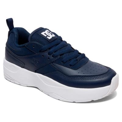 (男女)DC E.TRIBEKAPLAT 復古厚底休閒鞋-深藍