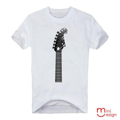 (男款)音樂吉他潮流設計短T 三色-Minidesign
