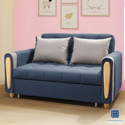 Hampton納瓦羅沙發床-藍色-150x86x90cm