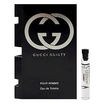Gucci 罪愛男性淡香水 沾式針管小香 2ml