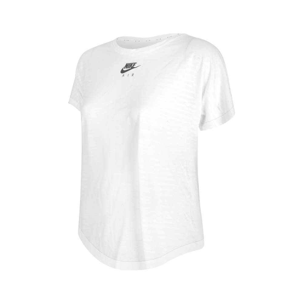 NIKE 女短袖T恤-DRI-FIT 運動 上衣 慢跑 路跑 CZ9155-100 白黑