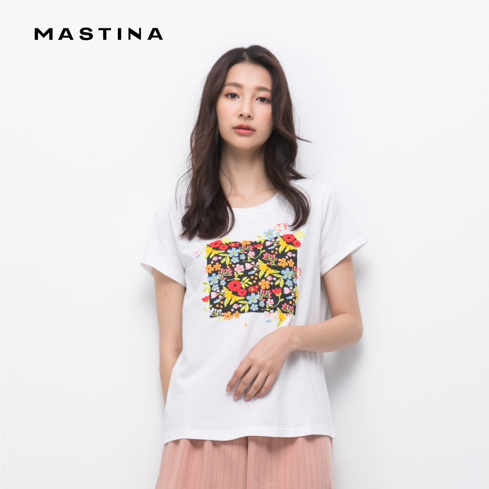 【MASTINA】夏日清爽印花短袖-上衣(二色)