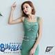 GIAT台灣製200D海藻胜肽膠原潤肌塑型內搭衣(蕾絲款-G.古綠) product thumbnail 1
