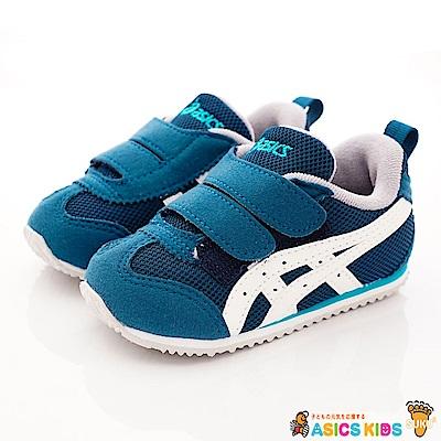 亞瑟士SUKU2機能鞋 雙絆帶穩定款4A008-400藍綠(寶寶段)