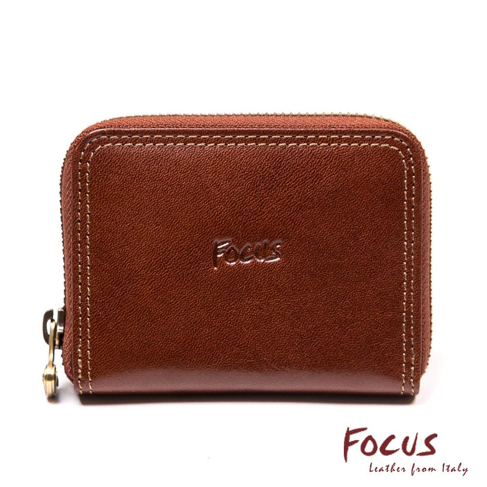 FOCUS經典原皮雙卡夾零錢包(FTA0096)