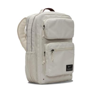 Nike 後背包 Utility Speed BKPK 男女款 大容量 多夾層 方包 上學 雙肩背 米 黑 CK2668104