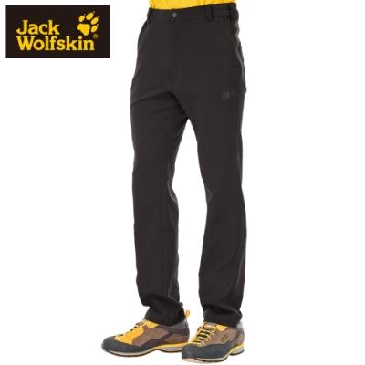 【Jack wolfskin 飛狼】男 彈性休閒排汗長褲『深咖啡』