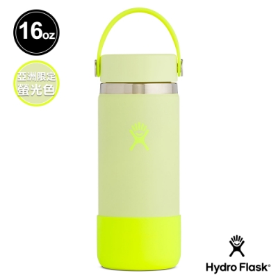 網路限定│美國Hydro Flask 寬口鋼瓶 Prism Pop 473ml 螢光黃