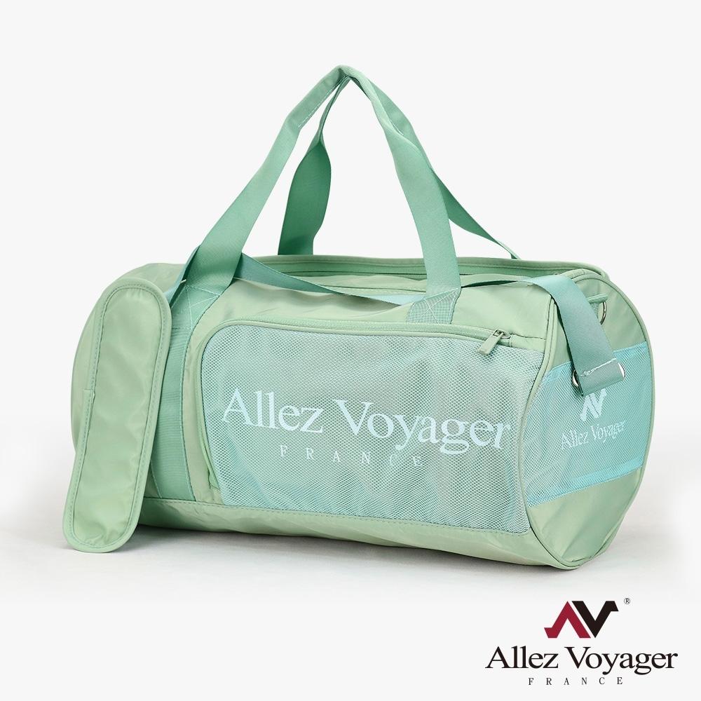 【奧莉薇閣】旅行袋 運動包 行李收納袋 側背包 斜背包 圓筒大容量(哈密瓜綠)