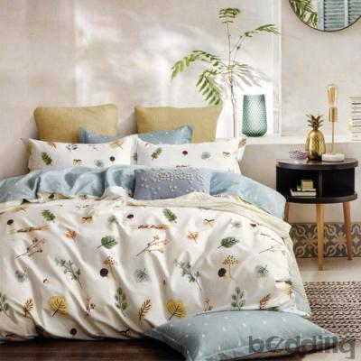 BEDDING-100%棉單人全鋪棉床包兩用被套三件組-濃濃情思