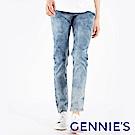 Gennies專櫃-雪花刷色微刮一體成型牛仔褲-藍(T4F76)