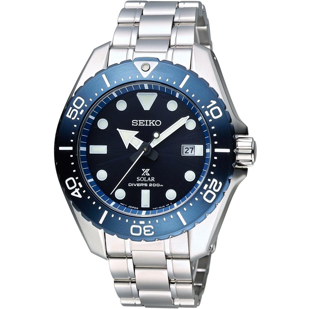 SEIKO Prospex 專業運動系列200M鈦金屬潛水錶(SBDJ011J)藍/44m