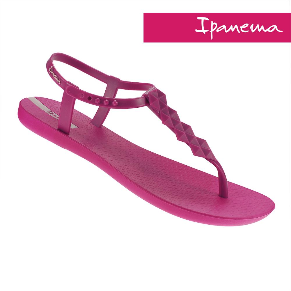 IPANEMA 典雅原色T字涼鞋-桃紅色