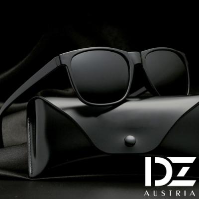 DZ 簡約輕盈 抗UV 防曬偏光太陽眼鏡墨鏡(砂黑框灰片)