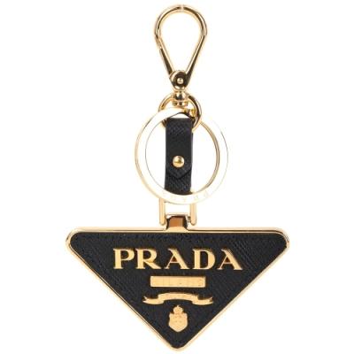 [精品送禮小物 五千有找]PRADA Toys 三角徽標防刮牛皮鑰匙圈-3色