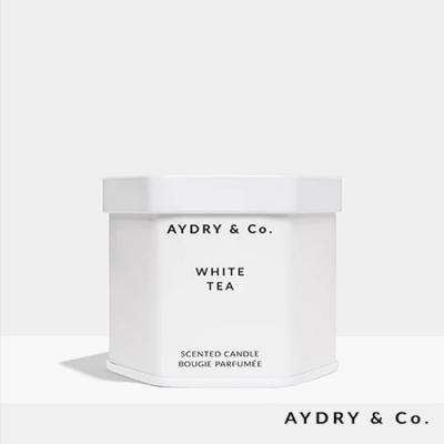 美國 AYDRY & CO. 白茶 天然手工香氛 極簡純白錫罐 99g