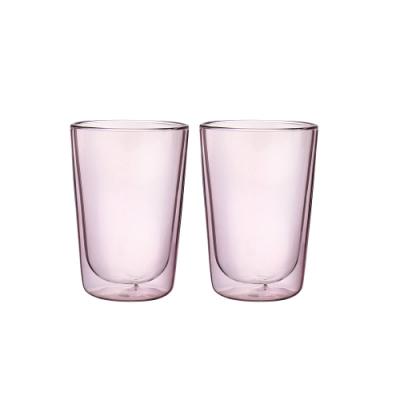 FUSHIMA富島 Addicted系列雙層玻璃杯380ML-芭蕾女伶粉*2入