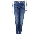VERSACE V字繡口袋設計藍色刷色牛仔褲