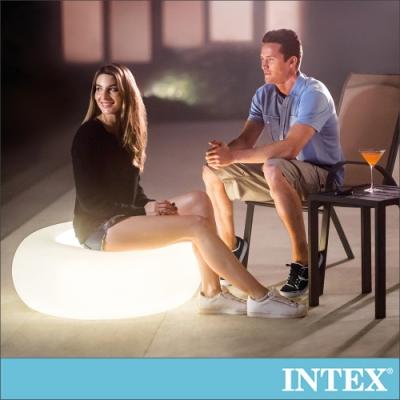 INTEX 氛圍燈座/充氣腳墊(86x33cm)-室內戶外二用(68697)