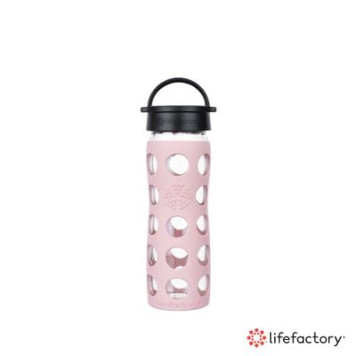 lifefactory 玻璃水瓶平口475ml-粉紅色(CLA-475-PKB)