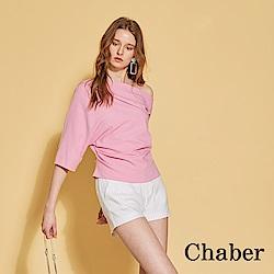 Chaber巧帛 無印簡約條紋百搭造型短褲(兩色)-時尚白