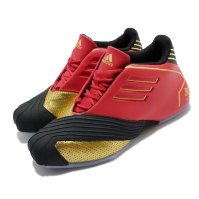 adidas 籃球鞋 T-Mac 1 運動 中筒 男鞋 三國時代 五虎上將 黃忠 復刻 黃金鎧甲 紅 黑 FW3655