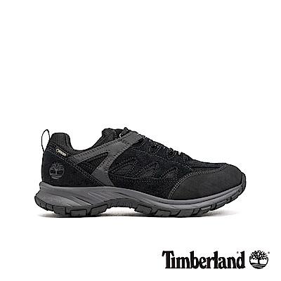 Timberland 男款黑灰拼接絨面革運動休閒鞋|A1PG2