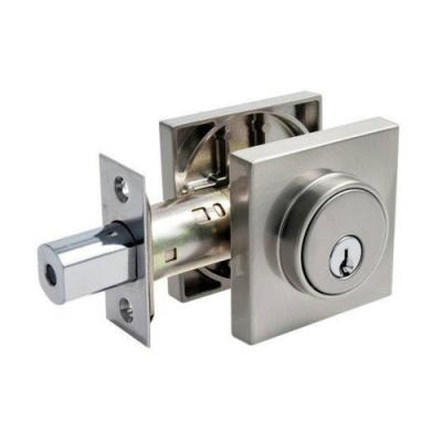 加安牌 現代風系列補助鎖 DA2X21 60mm 磨砂銀色 扁平鑰匙 方套盤輔助鎖 大門鎖