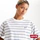Levis 女款 條紋短袖T恤 BOXY方正大寬袖 刺繡Serif Logo product thumbnail 1