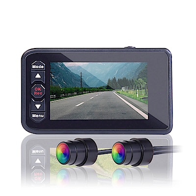 鷹之眼 重機/機車 前後雙鏡行車記錄器IP67防水(贈16G+掛勾+擦拭布+胎壓錶+香氛)