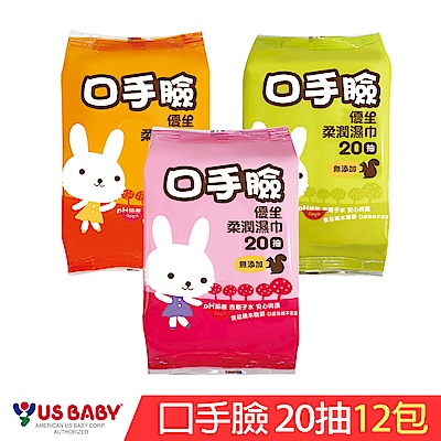 優生 口手臉柔潤巾(20抽12包)