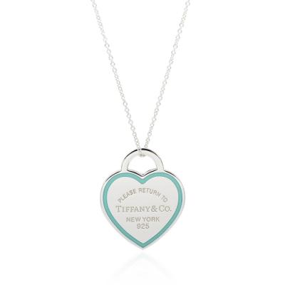 Tiffany&Co. Return to Tiffany 經典藍色琺瑯愛心純銀項鍊