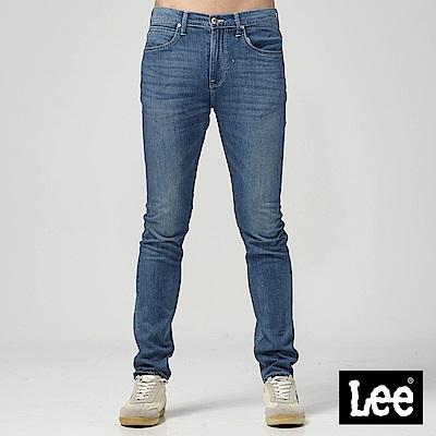 Lee 中腰標準舒適小直筒牛仔褲-中藍色洗水