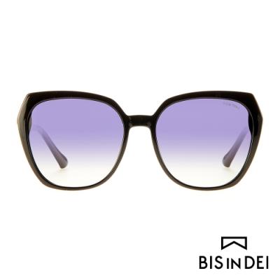 BIS IN DEI 顯瘦大方框太陽眼鏡-黑