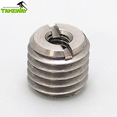 台灣製造Takeway 轉換螺絲1/4→5/8(T-SA25)-相機/望遠器材用