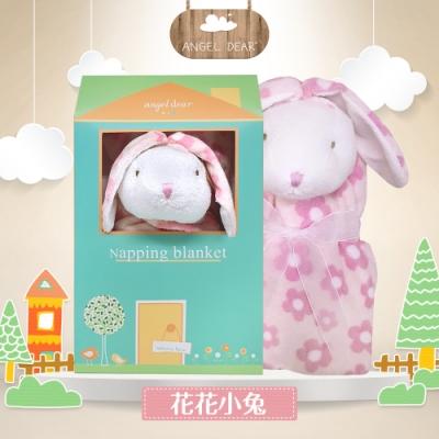 美國 Angel Dear 大頭動物嬰兒毛毯禮盒版 (花花小兔)
