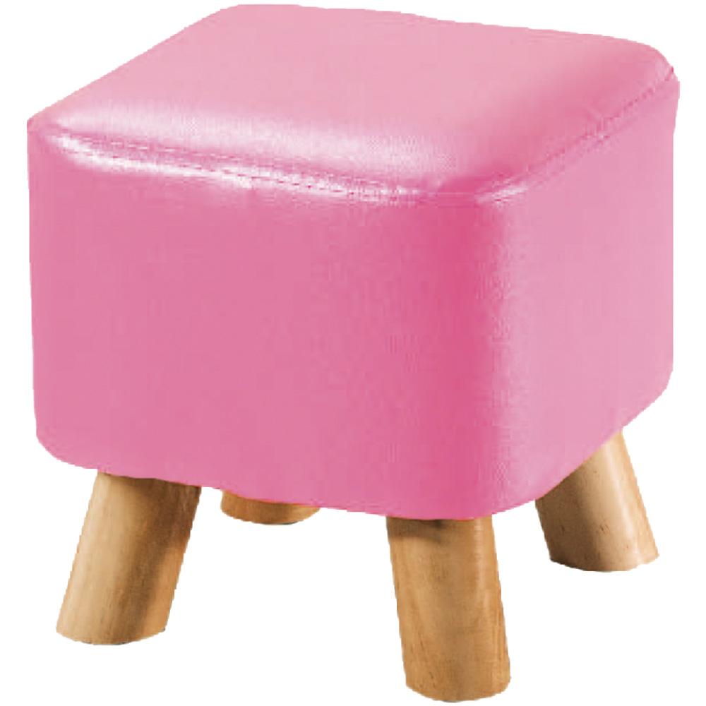 綠活居 巴比漾彩皮革小椅凳/方凳(六色)-29x29x27cm免組