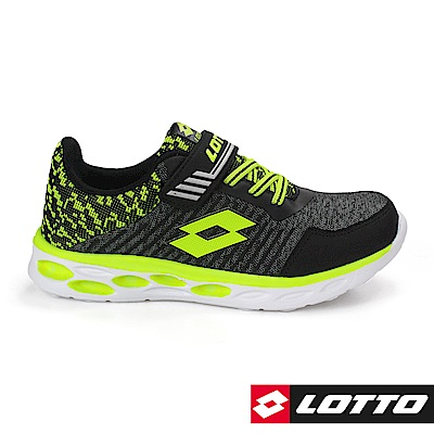LOTTO 義大利 童 SUPERLIGHT 零重力輕量跑鞋(黑)