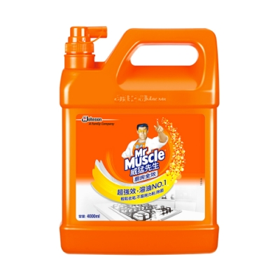 威猛先生 廚房清潔劑-超強效加侖桶 4000ml