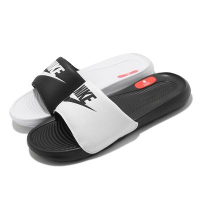 Nike 拖鞋 Victori One Slide 男女鞋 基本款 輕便 簡約 套腳 情侶穿搭 黑 白 DD0228100