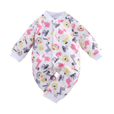 秋冬刷毛加厚嬰兒連身衣 k61057 魔法Baby