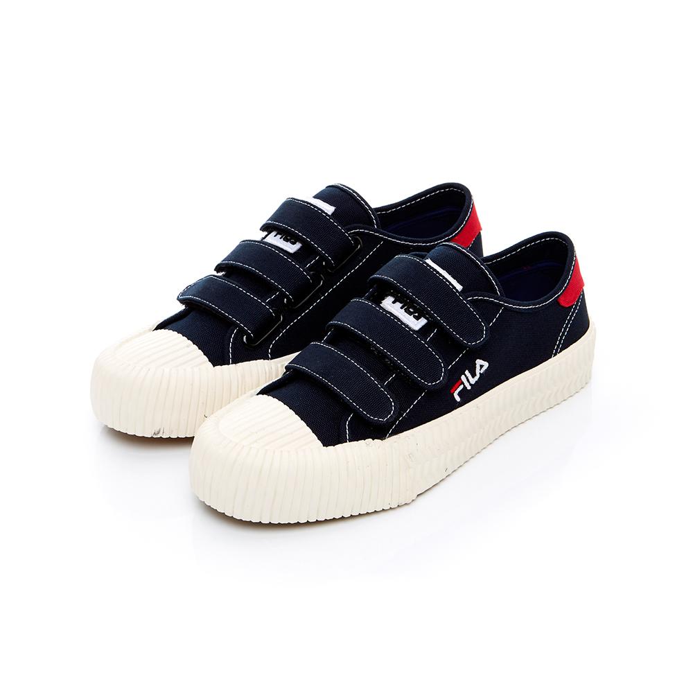 FILA 中性帆布餅乾鞋(防臭鞋墊)-丈青 4-C319T-331