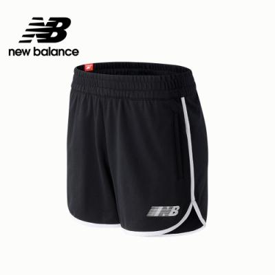 【New Balance】SPEED 左腳品牌字樣棉短褲_女性_黑色_WS03502BK