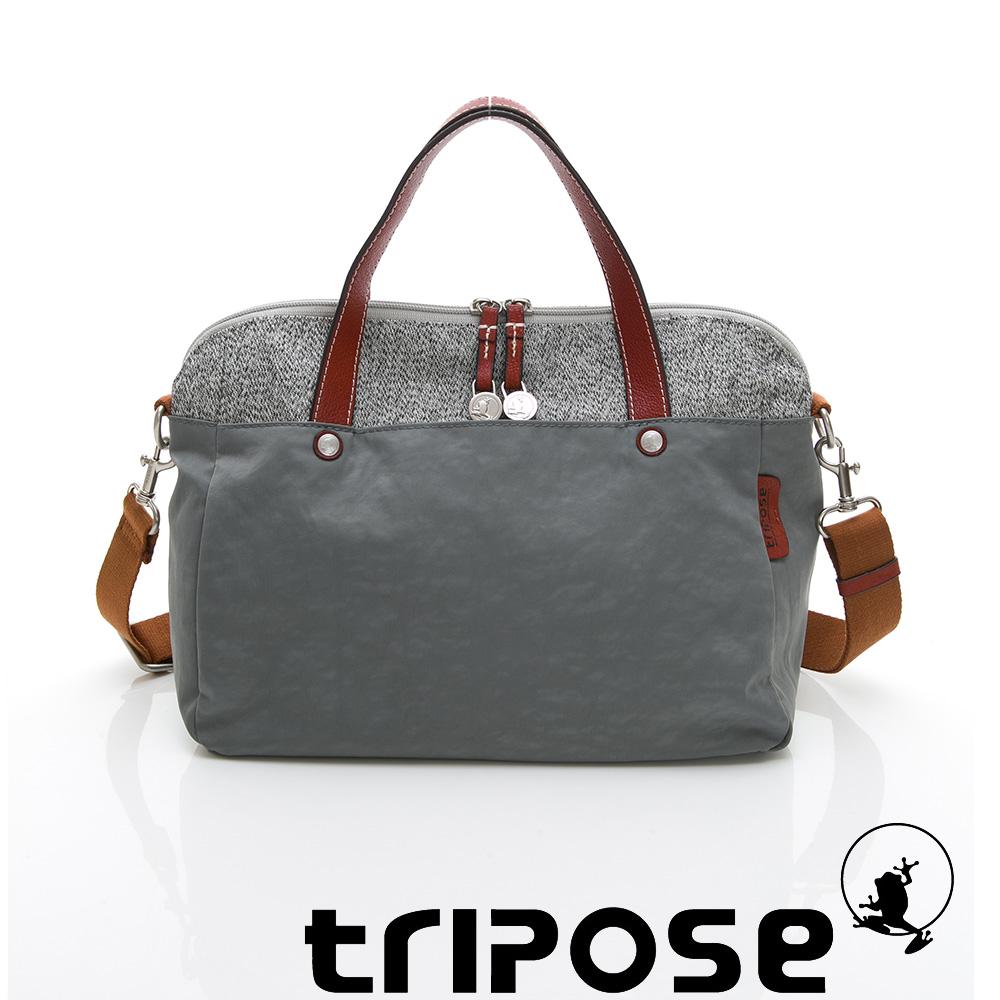 tripose 漫遊系列岩紋玩色兩用手提背包 灰