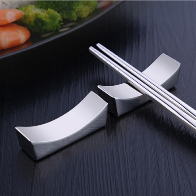 PUSH!餐具304不銹鋼筷子架筷子托筷枕(3入組)E130