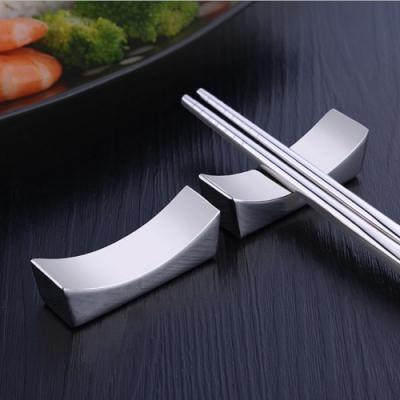 PUSH!餐具304不銹鋼筷子架筷子托筷枕(5入組)E130